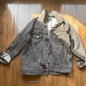 NEW W TAGS oversized black denim jacket